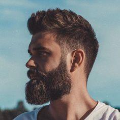Top 61 Best Beard Styles For Men Guide) Lumberjack Beard - Best Beard Styles For Men: Cool Short, Medium and Long Facial Hair Short Hair With Beard, Mens Hairstyles With Beard, Haircut For Thick Hair, Haircuts For Men, Men Short Hair, Short Haircuts, Man With Beard, Trendy Hairstyles, Mens Summer Hairstyles