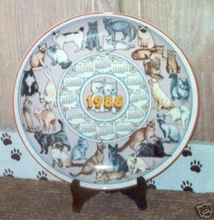 The 1985 Wedgewood calender plate with cat border