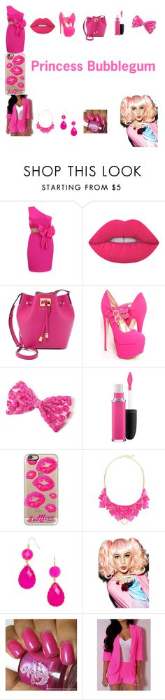 """""""Princess Bubblegum"""" by maddie-hatter23 on Polyvore featuring Notte by Marchesa, Lime Crime, Michael Kors, MAC Cosmetics, Casetify, George J. Love, BaubleBar and Spree Picky"""