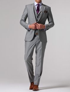 gray wedding suits for men | ... TO MEASURE GREY MEN SUITS,BESPOKE WEDDING TUXEDOS FOR MEN,GROOM SUIT 9