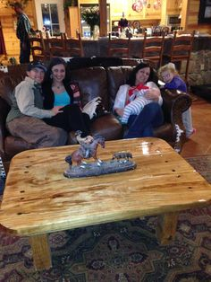 Our new pine coffee table made by Hessie Willie!
