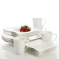 Maxwell & Williams White Basics Motion 16-Piece Dinner Set