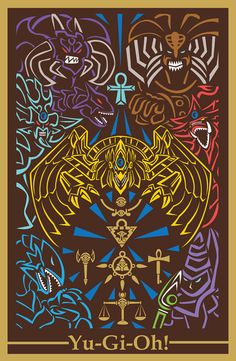 "Yu-Gi-Oh Millenium World - Anime Digital Art Poster 11"" X 17"""