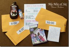 New Years countdown packets. What a fun idea!