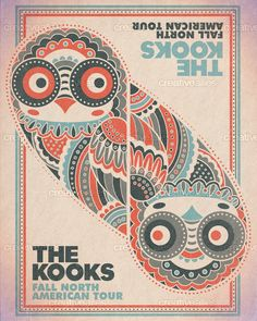 The Kooks Poster by NateWidick Rock Posters, Band Posters, Concert Posters, Music Posters, The Kooks, Expressive Art, My Favorite Music, Rock Style, Music Bands