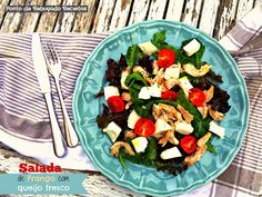 Chicken and white cheese salad