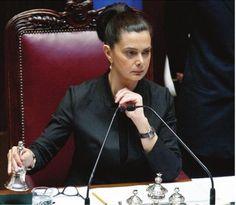 Laura Boldrini, presidente della Camera dei Deputati, Parlamento della Repubblica Italiana.