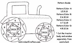 Free Iris Paper Folding Patterns | Iris Folding @ CircleOfCrafters.com: Tractor Pattern