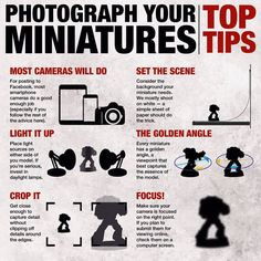 Want to take better pictures of your minis? GW dropped this solid graphic on us…