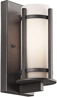 "0-002357>11""""h 1-Light Camden Outdoor Wall Lantern Anvil Iron"