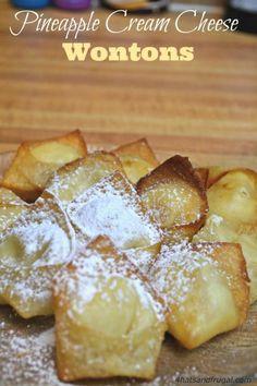 pineapple cream cheese wontons