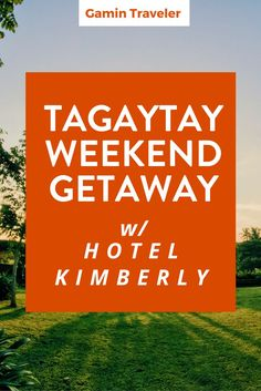 Where to stay in Batangas? Hotel Kimberly Tagaytay: A precious family weekend via Travel Couple, Family Travel, Tagaytay Philippines, Family Weekend, Bonfires, Travel Reviews, Asia Travel, Vacation Trips, Travel Advice