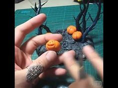 Polymer Clay Halloween Witch - YouTube