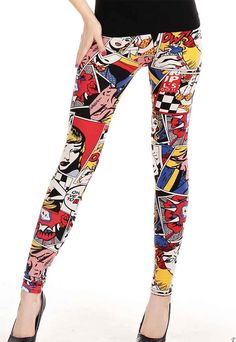 Fashion Girl Comic Sexy Legging is extremely popular that beyond your imagination. Young girls and sexy women are all like its steal eyes fashion girl print that is really noticeable and chic. All match summer item to match any of your fashion top for a fashion-forward look