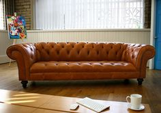 1930 Leather Chesterfield Sofa | Abode Sofas