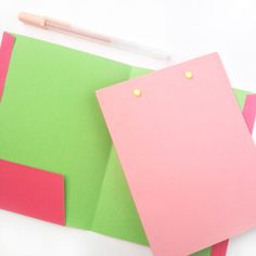 Stationery: Mini Folder DIY - Maritza Lisa made with her Silhouette