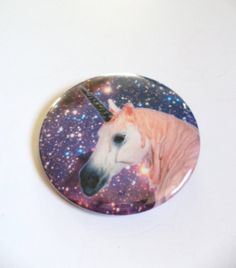 Cosmic Outer Space Unicorn Pinback Button OR Magnet by MAGICbyAnnaPanda, $3.00