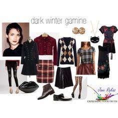 dark winter gamine
