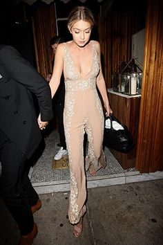 Gigi Hadid in her birthday (jump)suit