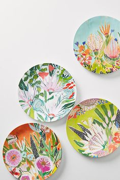 Best Melamine Plates For Summer 2018 Outdoor Dinnerware Pottery Painting, Ceramic Painting, Ceramic Art, Ceramic Plates, Ceramic Pottery, Decorative Plates, Hand Painted Pottery, Hand Painted Plates, Outdoor Dinnerware