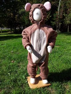 Toddler Size 18  24 Month Brown Mouse Costume