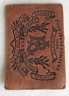 Leather Jeans label Ralph Lauren