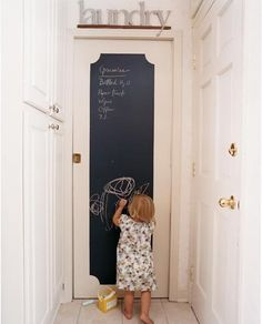 I wonder if Brandt will agree to painting a chalkboard door from the hall to the garage... Maybe when we turn the hall closet into our mushroom bench area