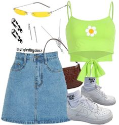 2000s Fashion, Teen Fashion Outfits, Kpop Outfits, Swag Outfits, Outfits For Teens, Stylish Outfits, Girl Outfits, Fashion Ideas, College Fashion