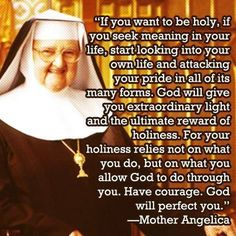 Mother Angelica ~ Wow!