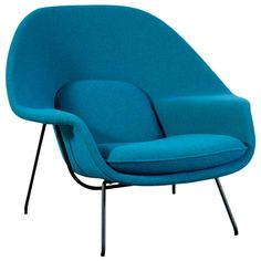 Vintage Womb Chair by Eero Saarinen for Knoll | From a unique collection of antique and modern lounge chairs at https://www.1stdibs.com/furniture/seating/lounge-chairs/