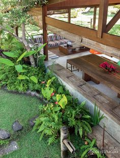 Tropical House Design, Tropical Houses, Tropical Garden, Filipino House, Jungle House, Thai House, Bamboo House, Farm Stay, Indoor Outdoor Living