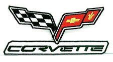 CHEVROLET CHEVY CORVETTE Easy Iron On Embroidered Patch Average 3.Inch - http://www.carhits.com/chevrolet-chevy-corvette-easy-iron-on-embroidered-patch-average-3-inch/