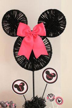 Minnie Mouse Birthday Party Ideas Pom poms