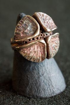 Germoglio bronce anillo