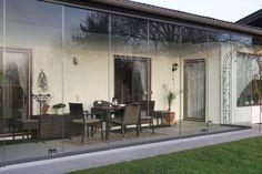 Schiebetüren Sunflex SF 20 - geschützter Wohnraum mit Glasschiebetüren