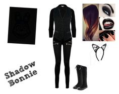 """Shadow Bonnie- FNAF 2"" by nicoleoliviaberry ❤ liked on Polyvore"