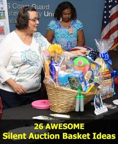 26 super AWESOME Silent Auction Basket Ideas for your fundraising auctions and events: by jeanette
