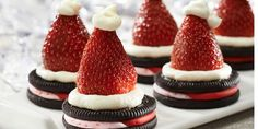In the Kitchen: Candy Cane OREO Santa Hat Cookies | A Bullseye View