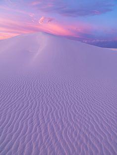 Desert | Windswept sands beneath the rising sun.
