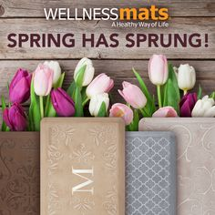 Spring into comfort with our 20% OFF Sale! Save 20% on ALL WellnessMats - now through Mother's Day, May 14, 2017. Incredible style and design! WellnessMats will outperform any mat on the market and is backed with a 20-Year Manufacturer's Warranty, so you can buy with confidence. Stop by Faraday's and Give Mom the Gift of Comfort!   #MadeinAmerica #beecave #lakeway #austin #texas #kitchenmats #wellnessmats #MothersDay #sale