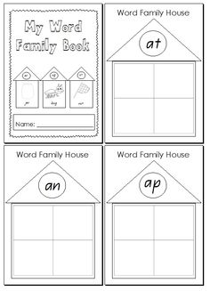 Word Family House Printables