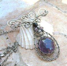 amethyst necklace in sterling silver with by EdisLittleTreasures, $129.00  http://www.etsy.com/listing/89255838/amethyst-necklace-in-sterling-silver