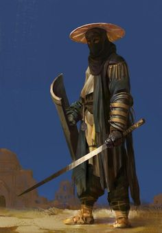 Dungeons & Dragons: Samurai, a Fighter archetype (inspirational) - Album on Imgu. Fantasy Character Design, Character Design Inspiration, Character Concept, Character Art, Concept Art, Fantasy Armor, Medieval Fantasy, Fantasy Samurai, Dnd Characters