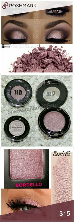 Urban Decay Eyeshadow Single - Bordello Brand New - Never Used  Full Size & Authentic  Color: Bordello (pale mauve with gold micro-glitter)  The UD mind-blowing formula delivers unmatched performance!  THE FORMULA ☆ Soft, amazingly velvety texture ☆ Rich, dense & decadent color ☆ Smooth, uniform pigment distribution & blendability ☆ Long-lasting, crease-free wear Urban Decay Makeup Eyeshadow