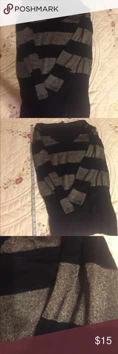 Kenneth Cole Reaction Silver and black sweater. For sale is a metallic silver and black striped sweater fro Kenneth Cole Reaction. Size Medium and in excellent condition. Kenneth Cole Reaction Sweaters V-Necks