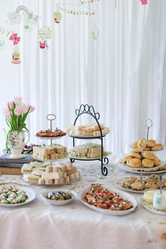 An afternoon tea baby shower (simple snacks) - Tea Spiration - . - An afternoon tea baby shower (simple bites) – Tea Spiration – # appetizers - Mini Sandwiches, Baby Shower Sandwiches, Finger Sandwiches, Baby Shower Menu, Simple Baby Shower, Tea Party Bridal Shower, Baby Shower Foods, Shower Party, Baby Shower Recipes