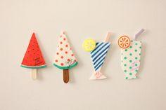 Van stof deze ijsjes maken