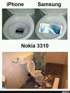 iPhone / Samsung / Nokia 3310 | Lustige Bilder, Sprüche, Witze, echt lustig