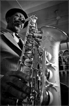 Innovative American saxophonist, violinist, trumpeter and composer, Ornette Coleman. One of the major innovators of 'free jazz' in the 1960s and avant-garde jazz. He received the 2007 Pulitzer Prize for music.