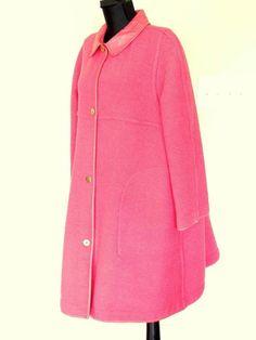 BONNIE CASHIN for SILLS Pink Boucle Wool & Leather Swing Coat Rare VTG 60s Mod #BONNIECASHINforSILLS #Coat